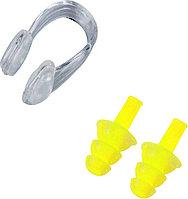 Комплект беруши и зажим для плавания в ассортименте Желтый