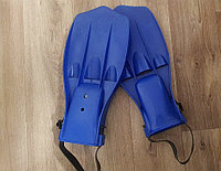Ласты пластиковые с открытой пяткой размер регулируется,цвета в ассортименте Синий