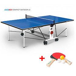 Теннисный стол Compact Outdoor 2 LX- всепогодный стол для использования на открытых площадках с сеткой
