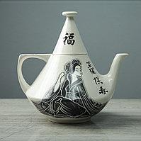 """Чайник для заварки """"Конус"""", гейша, белый, 1.2 л"""