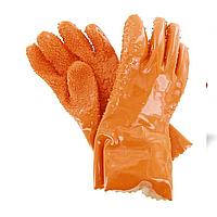 Перчатки рабочие Рыбак, латексные с нанесённой резиновой крошкой.