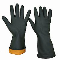 Перчатки резиновые КЩС, черные