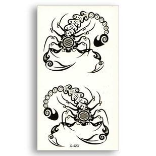 """Водостойкая временная тату-наклейка """"Скорпионы"""""""