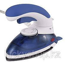 Портативный паровой утюг 1000 Вт, цвет синий