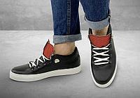 Полуботинки женские Gorky Boots Low1 черный (текстиль+кожа)