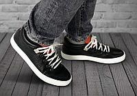 Полуботинки мужские Gorky Boots Low1 черный (текстиль+кожа)