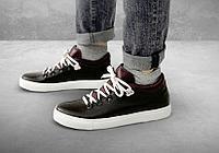 Полуботинки мужские Gorky Boots Low4 коричневый (текстиль+кожа)