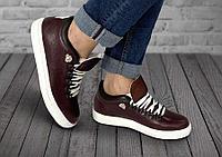 Полуботинки женские Gorky Boots Low9 бордовый (текстиль+кожа)