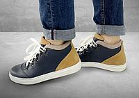 Полуботинки женские Gorky Boots Middle4 синий (текстиль)