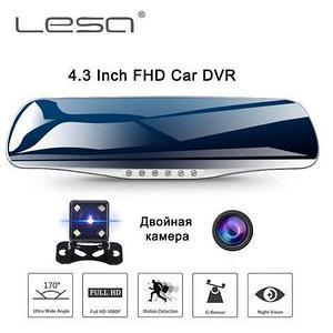 Видеорегистратор-зеркало заднего вида с двумя камерами LESA T6