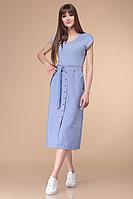 Женское летнее трикотажное голубое платье Линия Л Б-1733 голубой 44р.