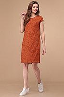Женское летнее шифоновое платье Линия Л Б-1808 терракотовый 44р.