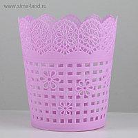 Корзина для хранения «Плетение», 10,5×10,5×11,5 см, цвет МИКС