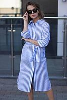 Женское летнее голубое платье Sisteroom Пл-086 бело-голубой 42р.