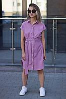 Женское летнее фиолетовое платье Sisteroom Пл-087 сиреневый 42р.