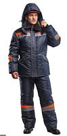 Костюм рабочий мужской зимний «Комфорт» цвет темно-серый/оранжевый