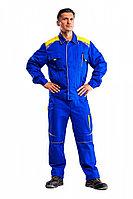 Куртка рабочая мужская летняя «Алатау» цвет васильковый/желтый