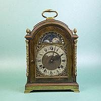 Английские кабинетные часы с лунным календарем. Smith Clocks Empire. Настольные часы с механизмом