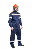 Костюм защитный от электродуги летний/демисезонный усиленный «СП02-ЛIV» цвет синий/оранжевый