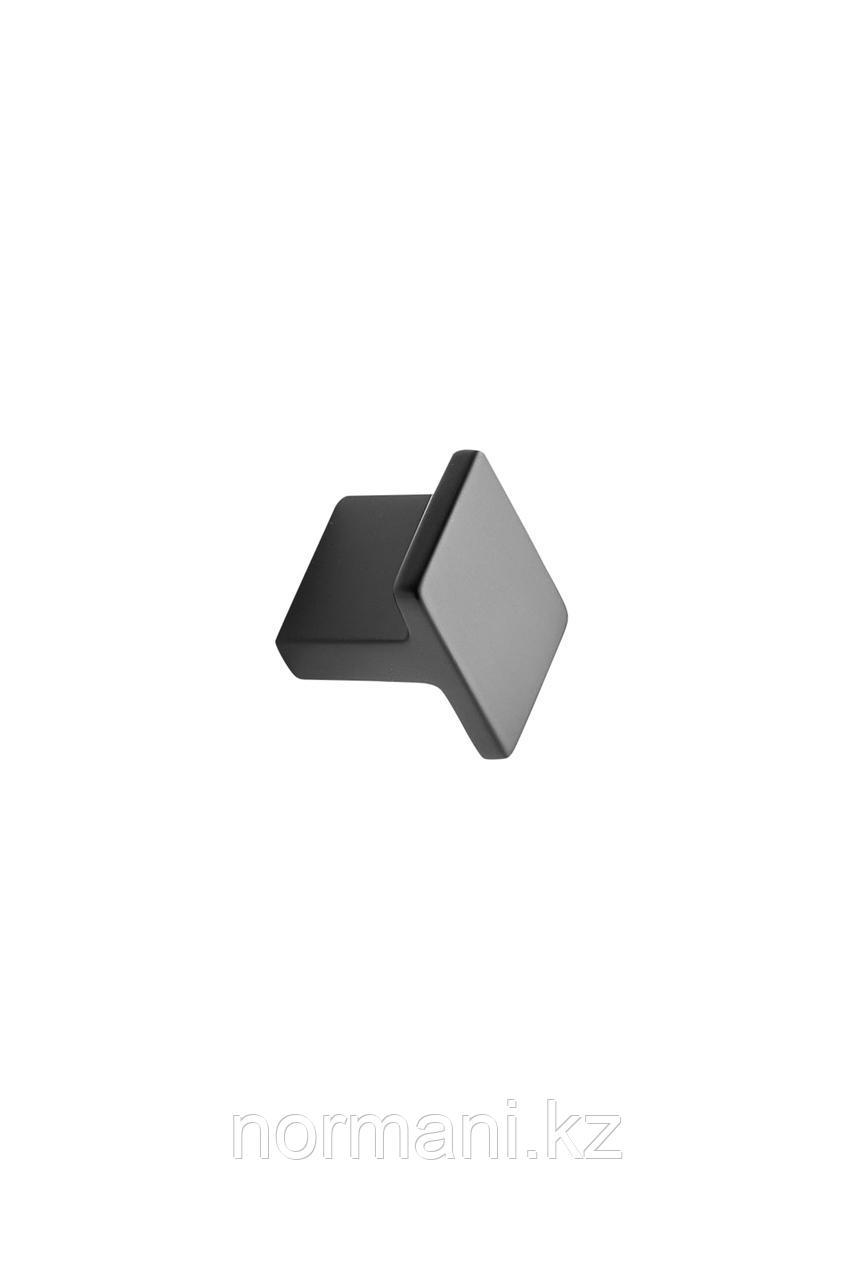 Мебельная ручка кнопка TRANSIT 25*32мм, отделка черный матовый