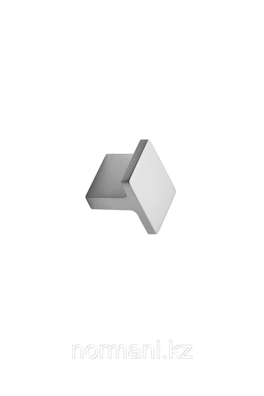Мебельная ручка кнопка TRANSIT 25*32мм, отделка сталь шлифованная