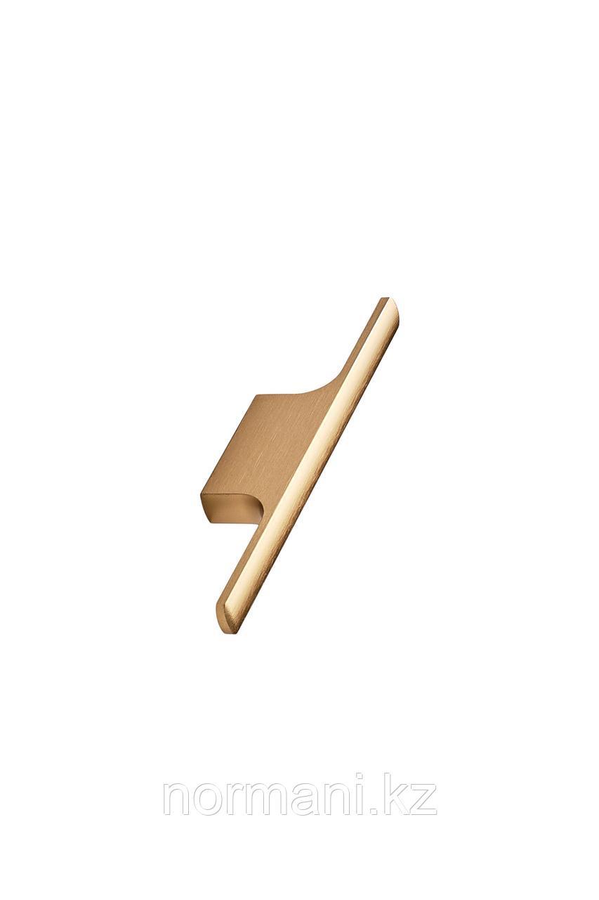 Мебельная ручка скоба 32мм TAU, отделка золото шлифованное