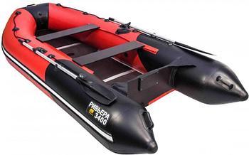 Надувная лодка Riviera Компакт 3400 СК черный-красный