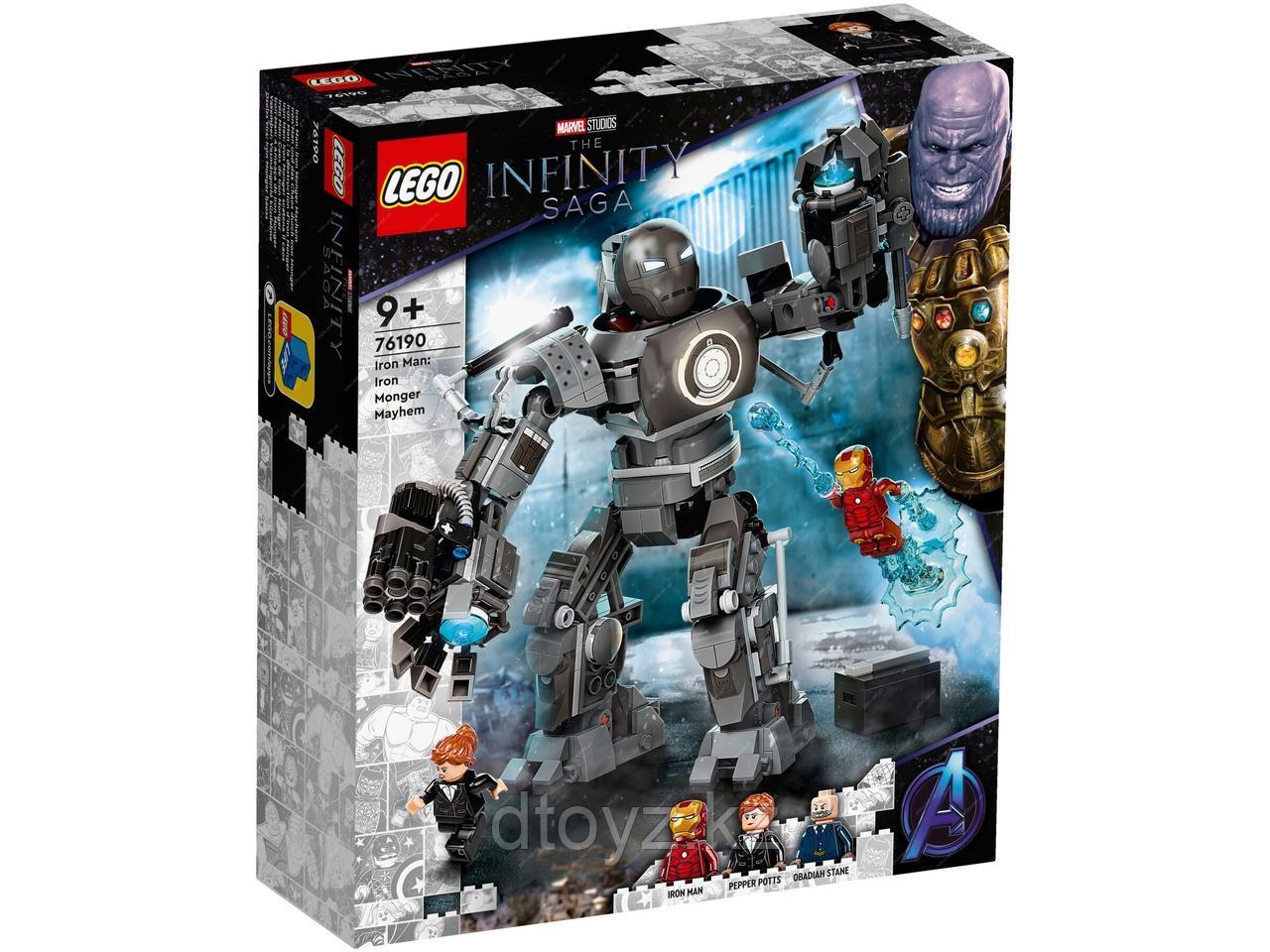 Lego Marvel Super Heroes Infinity Saga Железный человек: схватка с Железным Торговцем 76190
