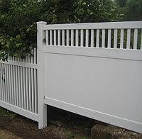 Пластиковый забор Классик DP005, 152х244см, цвет белый