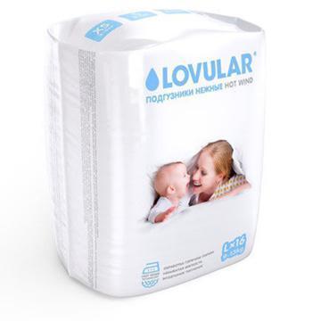 Подгузники LOVULAR HOT WIND размер L (9-13кг) 16 шт.