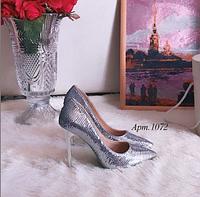 Женские туфли Miss Miller серебряные