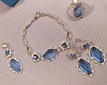 """Комплект украшений  """"Небесный свет"""" кольцо+кулон+серьги+браслет, фото 2"""
