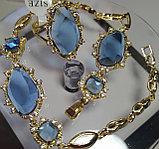 """Комплект украшений  """"Небесный свет"""" кольцо+кулон+серьги+браслет, фото 4"""