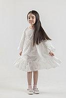 Платье БЕЗЕ, белое шитье, на 4-9 лет. НЕЖНОЕ И ОЧЕНЬ МЯГКОЕ ВОЗДУШНОЕ ПЛАТЬЕ!