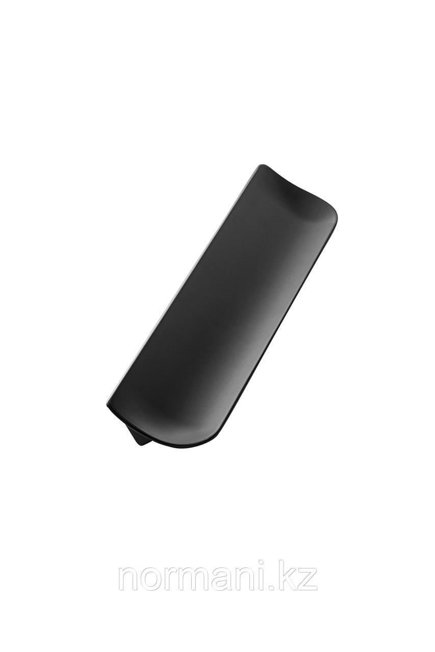 Мебельная ручка SLOPE L.181мм, отделка черный матовый