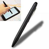 Шариковая ручка стилус 2 в 1 матовая черная
