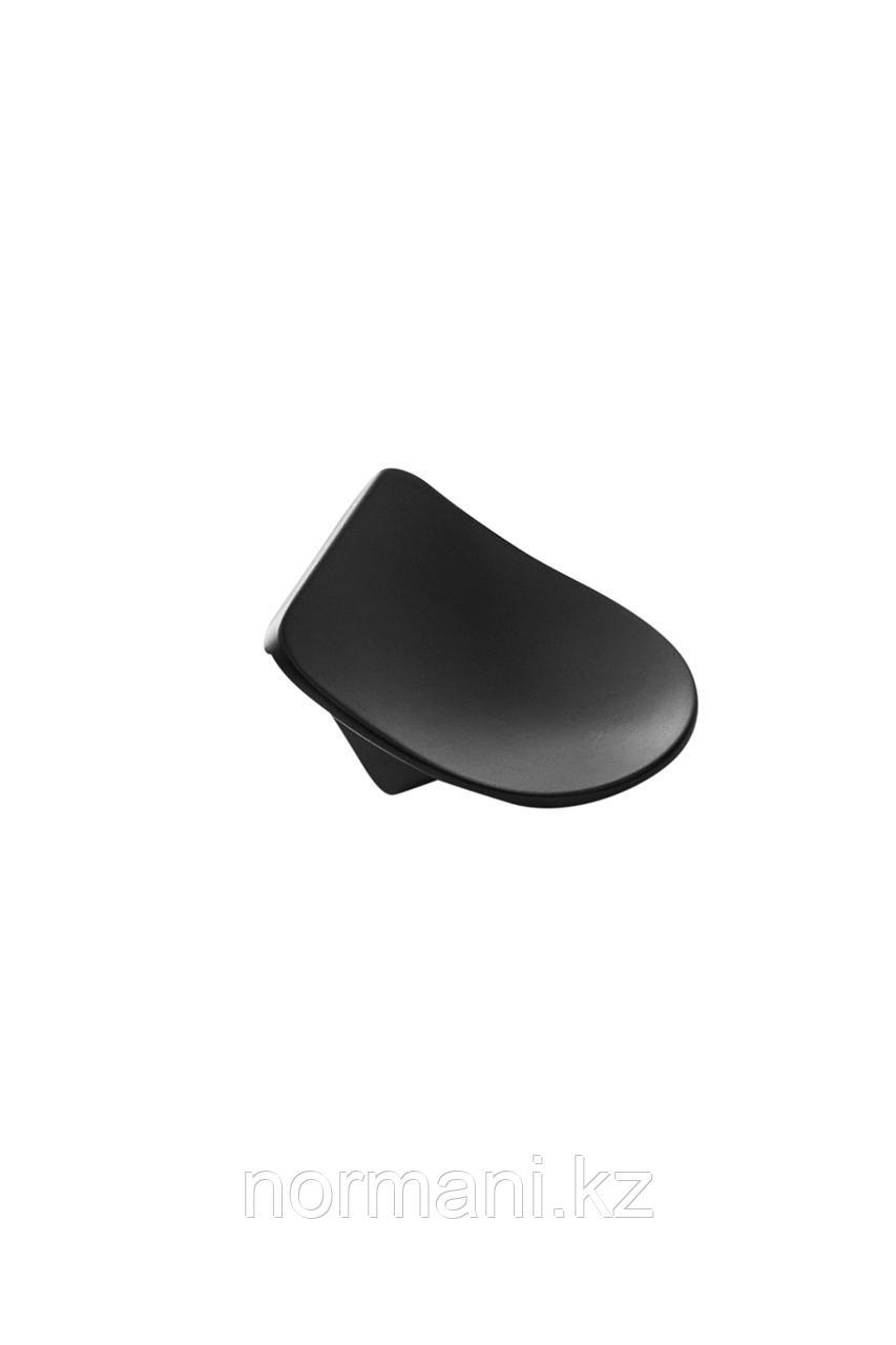 Мебельная ручка SLOPE L.31мм, отделка черный матовый