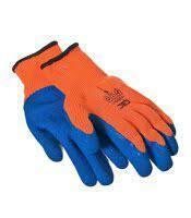 Прорезиненные перчатки оранжевые (синие) эконом