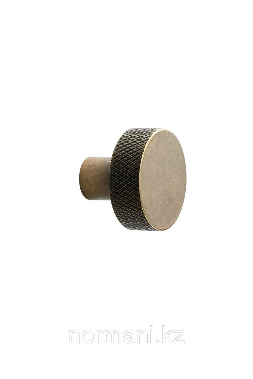 Мебельная ручка кнопка SIMON d.35, отделка золото темное
