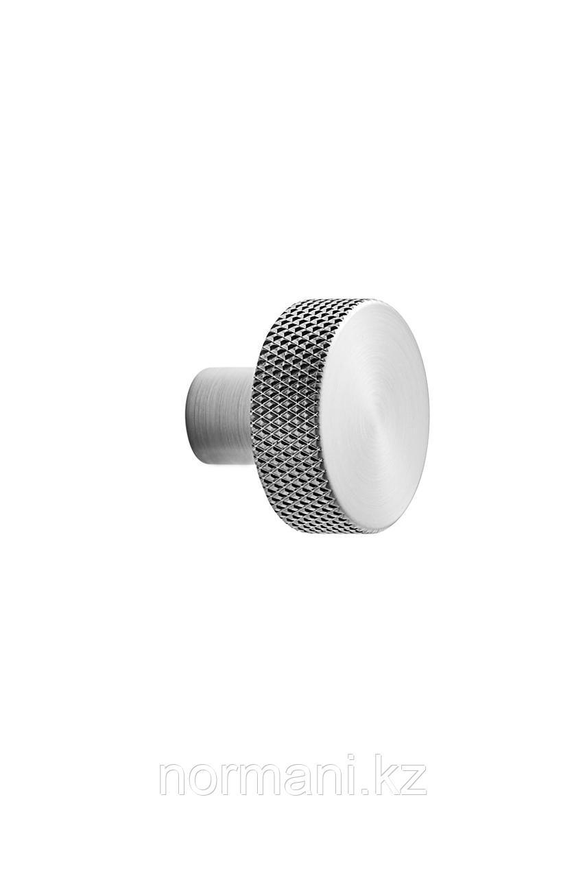 Мебельная ручка кнопка SIMON d.35, отделка сталь шлифованная