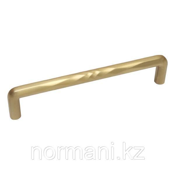 Мебельная ручка скоба 160мм SHUFFLE, отделка золото шлифованное