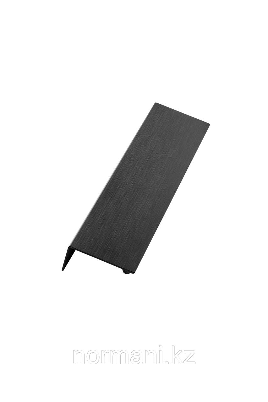 Мебельная ручка накладная SHEET L.200мм, отделка черный шлифованный