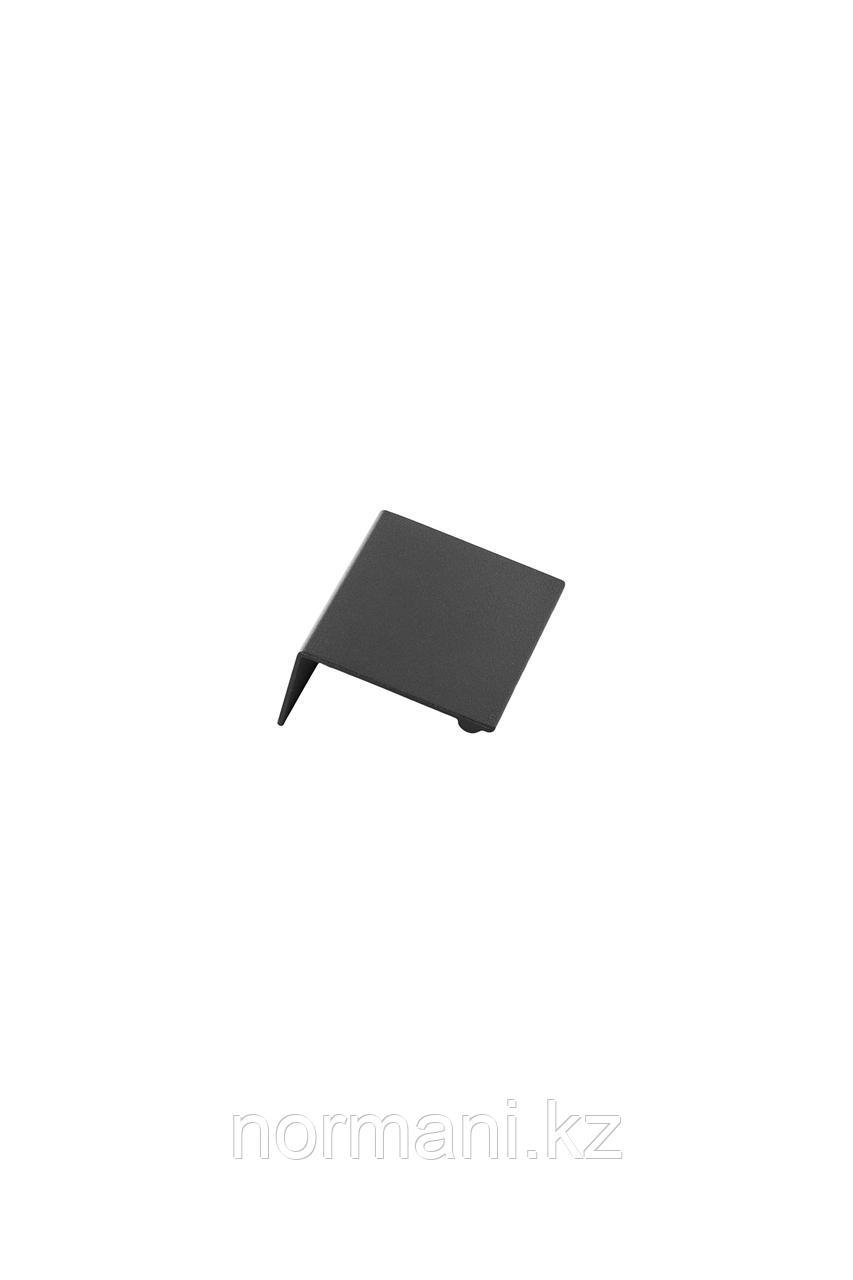Мебельная ручка накладная SHEET L.60мм, отделка черный шлифованный