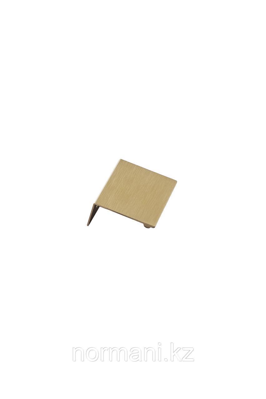 Мебельная ручка накладная SHEET L.60мм, отделка золото шлифованное