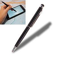 Шариковая ручка стилус 2 в 1 глянцевая черная