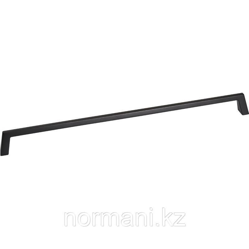 Мебельная ручка скоба 320мм PYRAMID, отделка черный матовый