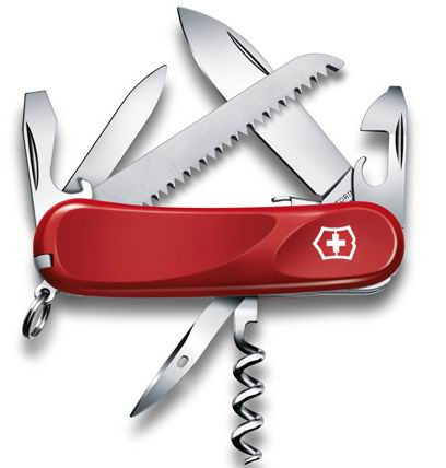 Нож VICTORINOX Мод. Evolution Security 13 (85мм) - 16 функций, красный R 18972