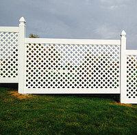 Декоративная решетка из ПВХ Элеганс DP601, 140х244 см, белый