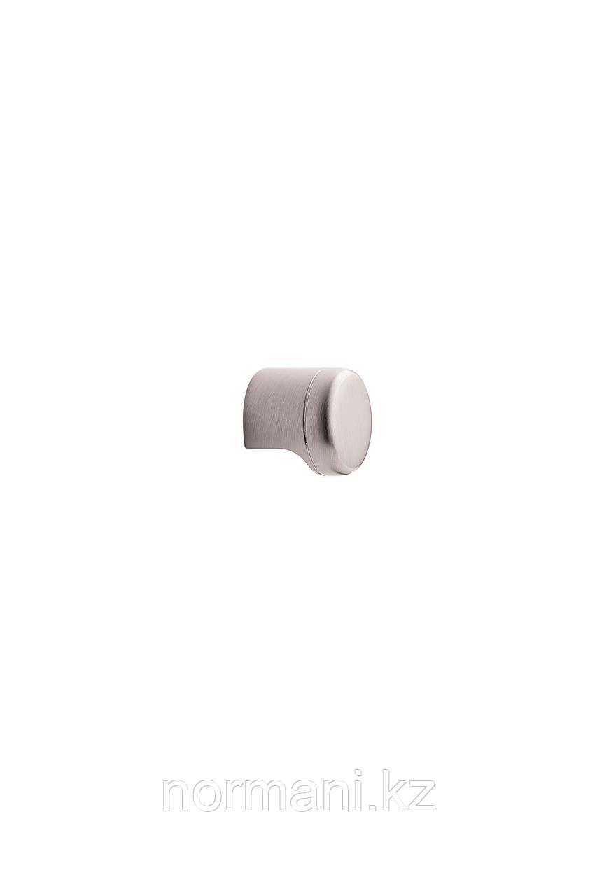 Мебельная ручка кнопка POINT d.28мм, отделка сталь шлифованная