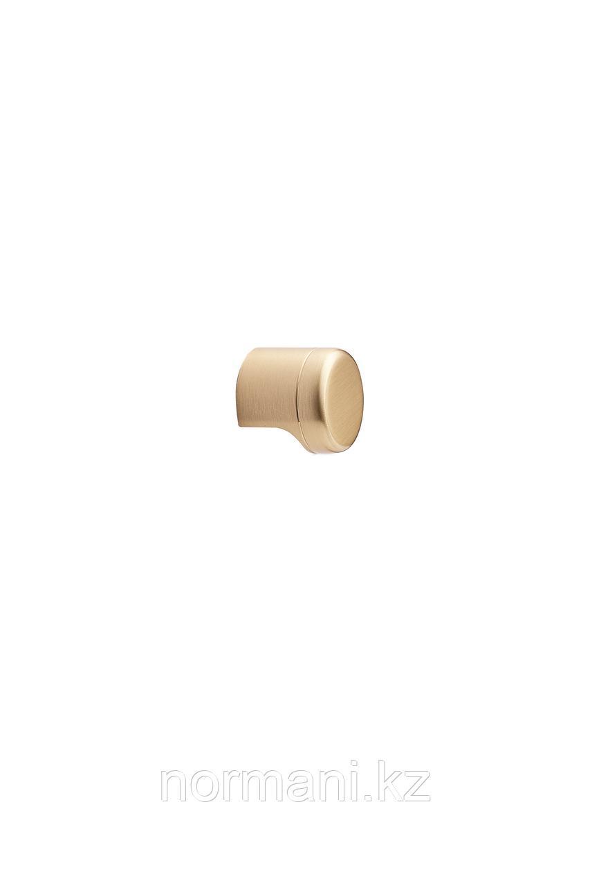 Мебельная ручка кнопка POINT d.28мм, отделка золото шлифованное